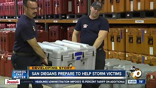 San Diegans prepare to assist Hurricane victims