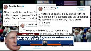 Reaction to President Trump's ban on transgender people in the military