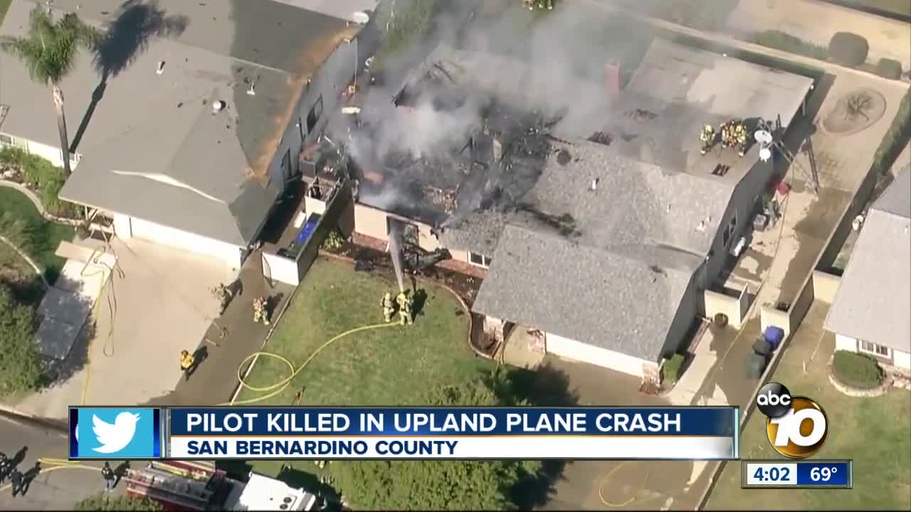 Plane crashes into Upland home