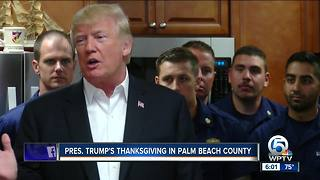 President Trump praises military, visits Coast Guard in Riviera Beach