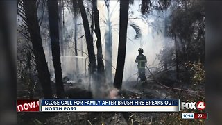 Brush fire breaks out near homes in North Port