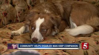 Dickson Community Helps Disabled Man Keep Companion Dog - Video