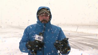 Blizzard moves into Colorado -- 9:30 a.m. update from Colorado-Wyoming state line