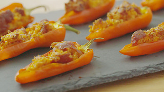 Xanthe Clay's chorizo stuffed mini peppers - Video