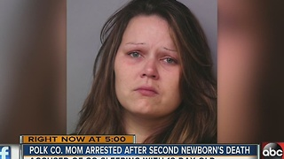 Winter Haven mom arrested after death of second newborn - Video