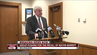 Political action committee registers with City of Milwaukee, announces plan to recall Mayor Barrett - Video