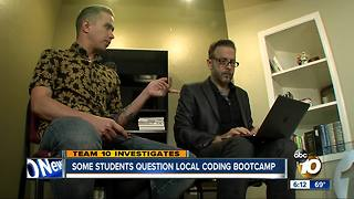 Some students question local coding bootcamp - Video
