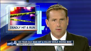 Police search for driver who killed 63-year-old bicyclist in hit-and-run - Video