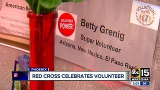 Red Cross celebrates their oldest volunteer in the country