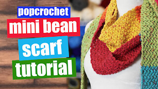 Crochet Mini Bean Scarf Tutorial