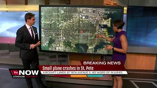 Small plane crashes onto road in St. Petersburg - Video