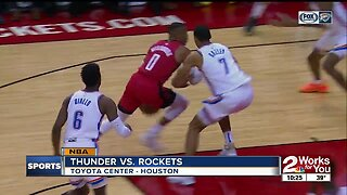 Russell Westbrook scores 21 as Rockets hold off Thunder in Westbrook's first matchup with former team
