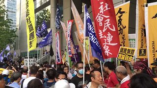 Hundreds Rally Against Attempt to Ban Hong Kong Political Party - Video