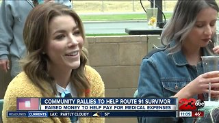 Community rallies to help Route 91 survivor