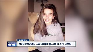 Mom mourns daughter killed in ATV crash