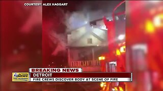 Fire crews discover body at scene of fire in Detroit