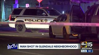 Man found shot in Glendale neighborhood - Video