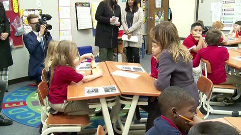 First Lady Trump in Tulsa visiting students