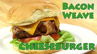 Grilling recipes: Bacon Weave Extra Cheese Cheeseburger - Video