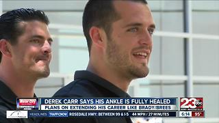 Derek Carr says health a top priority for NFL durability - Video
