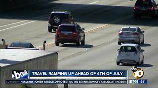 Travelers start 4th of July holiday - Video