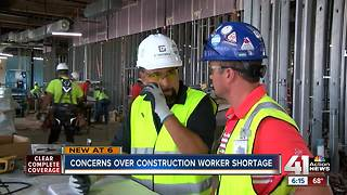 Concerns over construction worker shortage - Video