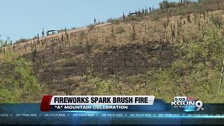 "Fireworks spark ""A"" Mountain fire"