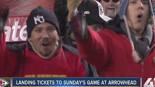 Landing tickets to Sunday's game at Arrowhead Stadium - Video