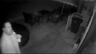 Dumbass Neighbors Caught On Our Security Camera - Video