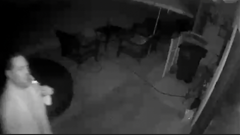 Dumbass Neighbors Caught On Our Security Camera