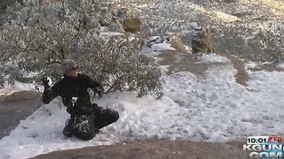 People enjoy a white Christmas up on Mt. Lemmon - Video