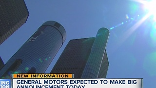 General Motors expected to make big announcement today - Video