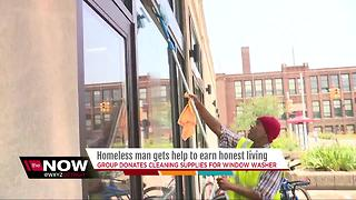 Homeless man gets help to earn honest living