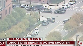 Ohio State active shooter: Ohio State University campus told to shelter in place - Video