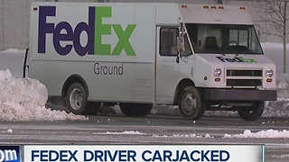 FedEx driver carjacked in Detroit - Video