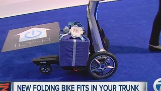 New folding bike at Detroit auto show fits in your trunk - Video
