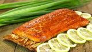 Planked Alaska Sockeye Salmon With Asian Glaze - Video