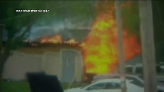 Witness video shows shed fire that killed 24-year-old maintenance worker - Video