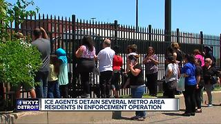 ICE agents detain people in Metro Detroit - Video