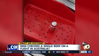 Air traveler checked a beer can? - Video