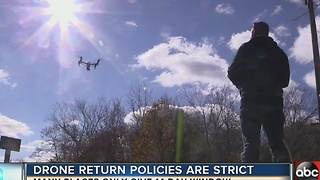 Drone return policies stricter than expected - Video