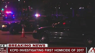 KC police investigating first homicide of 2017 - Video