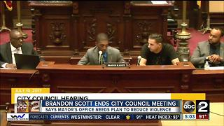 Brandon Scott ends City Council meeting by walking out - Video