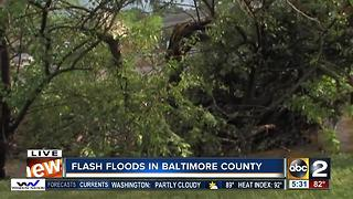 Flooding on Reisterstown Road at Cherryvale Plaza - Video