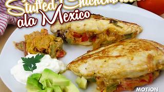 Mexican stuffed chicken breasts - Video