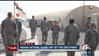 Kokomo-based Indiana National Guard unit being deployed to Kuwait - Video