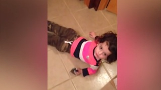 This little girl fails at hide-and-seek in funniest way imaginable! - Video