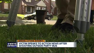 Victim speaks to Action News after shooting outside party bus in Detroit - Video