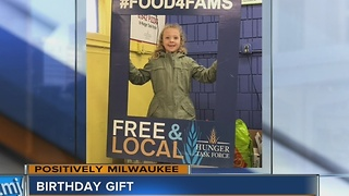 Local 7-year-old uses birthday to help less fortunate - Video