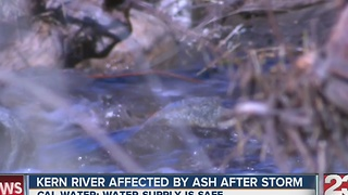 Kern River affected by ash after storm - Video